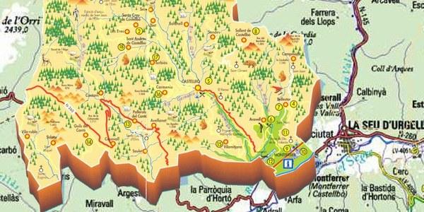 Mapa de Montferrer i Castellbò