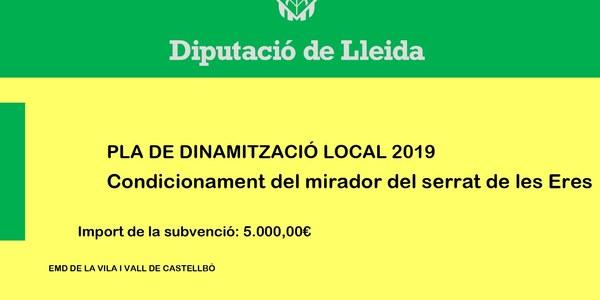 PLA DE DINAMITZACIÓ LOCAL 2019